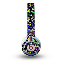 The Multicolored Polka with Black Background Skin for the Beats by Dre Mixr Headphones