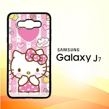 Hello Kitty Candy Pink L1944 Samsung Galaxy J7 Edition 2016 SM-J710 Case