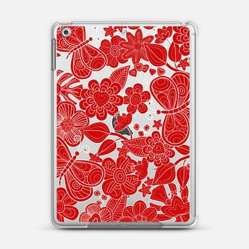 flowers and butterflies in red iPad Air 2 case by Julia Grifol Diseñadora Modas-grafica | Casetify