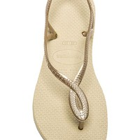 Havaianas Luna Sandal in Taupe