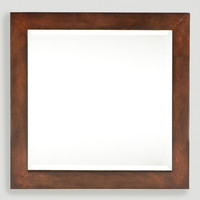 Square Wall Mounted Jewelry Armoire with Mirror - World Market