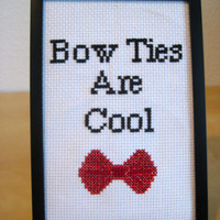 Cross Stitch Pattern - Bow Ties are Cool - Doctor Who - INSTANT DOWNLOAD