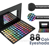 Beauty 88 Color Makeup Eyeshadow Palette Eye Shadow Makeup Tool Kit Set Box with Mirror