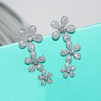 925 Silver Luxury High Quality Accessory Earrings [8740021639]