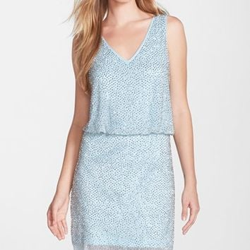 Women's Xscape Beaded Blouson Dress