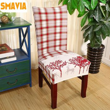 SMAVIA New Arrival Printed Dining Chair Cover 100% Polyester Restaurant Banquet Hotel Spandex Slipcover Decor Home Removable-1pc