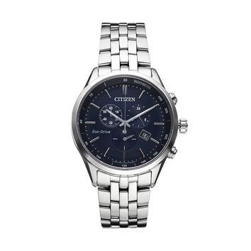 Citizen Eco-Drive Men's Sapphire Stainless Steel Chronograph Watch - AT2141-52L (Grey)