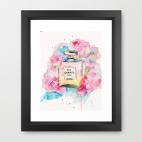 Chanel In Hydrangea's Framed Art Print by Talula Christian