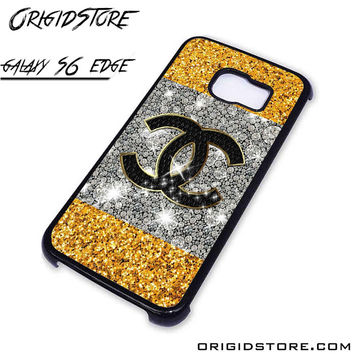 chanel glitter For Samsung Cases Phone Covers Phone Cases Samsung Galaxy S6 Edge Case Samsung Galaxy S6 Edge Case Smartphone Case