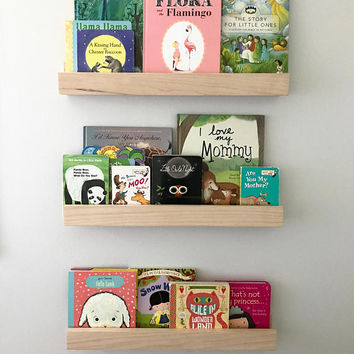 Picture Ledge Shelf - Rustic Ledge Shelf - Wood Shelf - Floating Shelf - Book Ledge - Picture Ledge - Floating Shelf - Book Shelf