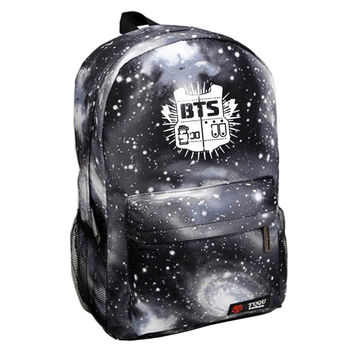 Free shipping 2017 New Hip-Hop Korean Backpack Printing BTS Backpack mochila bts For Teenagers Waterproof Nylon Men's Backpack