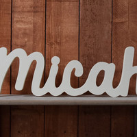 Micah Name - Wood Nursery Letters, Name Sign - Henry - Nursery, Home Decor, Baby name sign