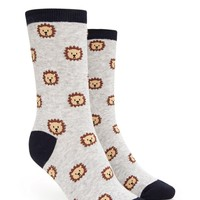 Lion Graphic Crew Socks
