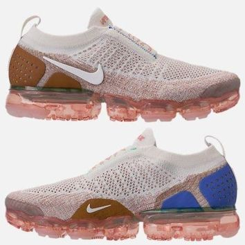 NIKE AIR VAPORMAX FLYKNIT MOC 2 MEN'S RUNNING SAIL - ANTHRACITE - SAND - WHEAT