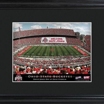 College Stadium Print with Wood Frame - Ohio State