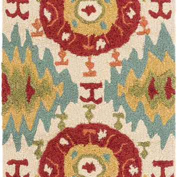 Surya SOM7711 Storm Red, Blue Rectangle Area Rug