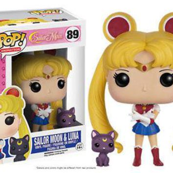 Funko Pop Animation: Sailor Moon - Sailor Moon and Luna Vinyl Figure