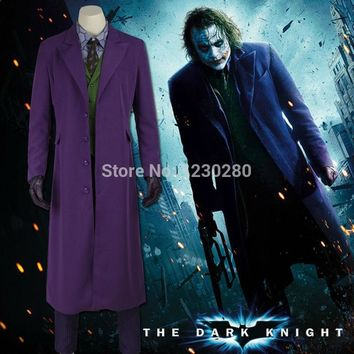 Halloween Costumes Men Jacket Batman The Dark Knight Joker Cosplay Costume Tuxedo Carnival Cosplay Joker Costume Batman