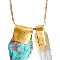 Chrysocolla & Quartz Necklace