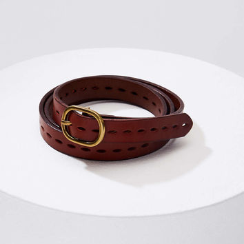 Perforated Leather Belt | LOFT