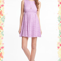 Lavender and Lace Dress