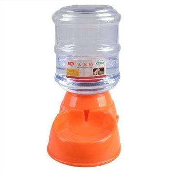 Dog Water Device 3.5L Pet Dog Cat Automatic Water Dispenser Device Bottle Dish