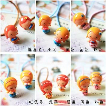 New Baby Korean Classic Mermaid Elastic Hair Bands Candy Colors Ponytail Holder Rope Headbands Children Girls Hair Accessories