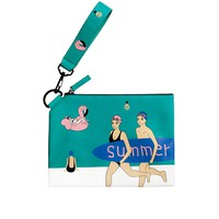 Flamingo Summer Leather Ipad Mini Sleeve