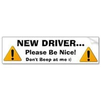 New Driver Bumper Sticker from Zazzle.com