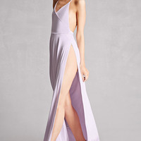 High-Slit Halter Maxi Dress