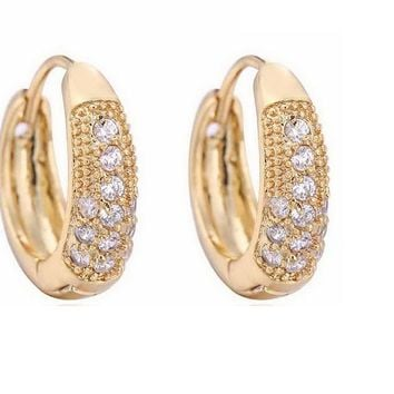 Gold Color Small Hoops Earrings