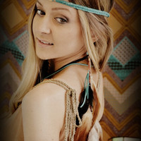 ON SALE BOHO Babe Leather Braid Headband