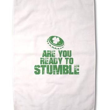 """Are You Ready To Stumble Funny Premium Cotton Sport Towel 16""""x25 by TooLoud"""
