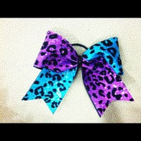 3 3 inch cheer cheerleader bow teal and by blingitoncheerbows