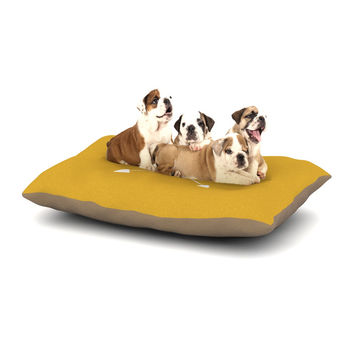 "KESS Original ""Golden Arrow Monogram"" Dog Bed"