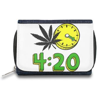 420 Cannabis Weed Leaf Design  Zipper Wallet| The Stylish Pouch To Keep Everything Organized| Ideal For Everyday Use & Traveling| Authentic Accessories By Styleart