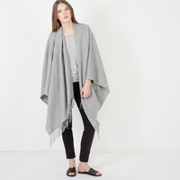 Caro Textured Knit Wrap (Grey)
