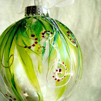 BLACK FRIDAY Christmas Ornament Hand Painted by bluemorphoglass
