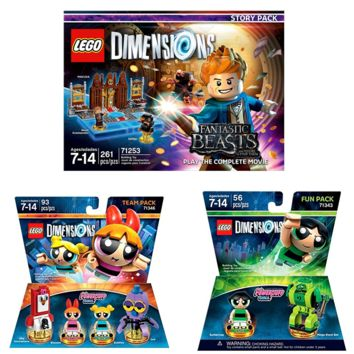 Lego Dimensions Fantastic Beasts The Powerpuff Girls Team Pack By Building Toys For Kids Fun Level Story Pack