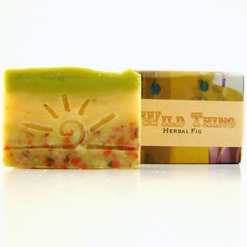 CIJ Sale 15% off - Wild Thing Artisan Soap / Cold Process Soap / Vegan Soap / Fig Scented Soap christmasinjuly Christmas in July