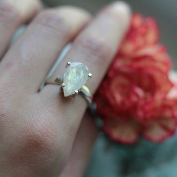 Size ; Facet Moonstone Ring