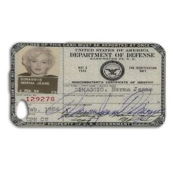 Marilyn Monroe Cute Defense ID Card Phone Case iPhone iPod Cool Cover 50s 60s