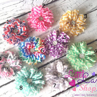 Chevron Flower Girl Baby Headband, Newborn Girl Headband, Hair Clips - All ages - newborn photography props - vintage couture Canada