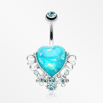 Vintage Heart Belly Button Ring
