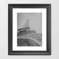 Eiffel Tower Framed Art Print by Synthia Lay | Society6