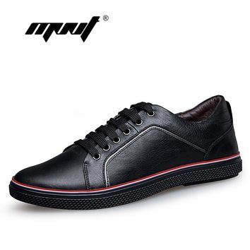 Genuine leather men shoes sneakers,New design men walking casual shoes,Handmade plus size men flats shoes,zapatos hombre