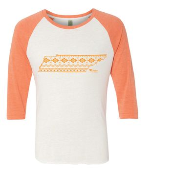 Tennessee Simple Aztec Orange Baseball Tee