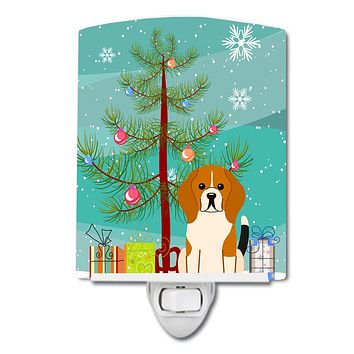 Merry Christmas Tree Beagle Tricolor Ceramic Night Light BB4165CNL