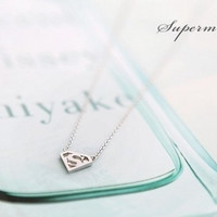 Extra Superman S Sign Necklace Clavicle Chain [7940540423]