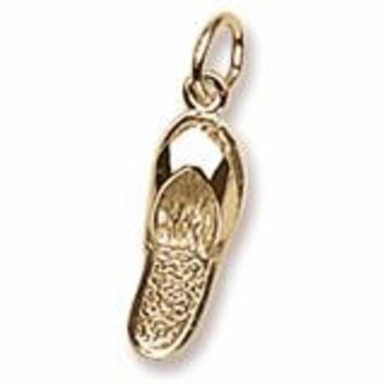 Sandal Charm in Yellow Gold Plated